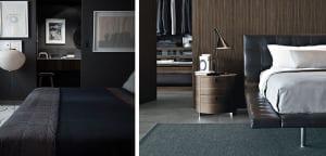Dormitorios masculinos en tonos neutros