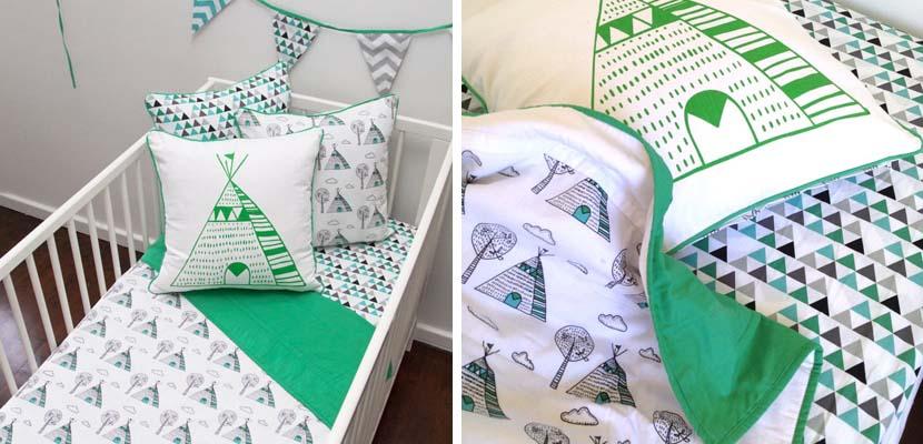 Color verde en la habitación infantil