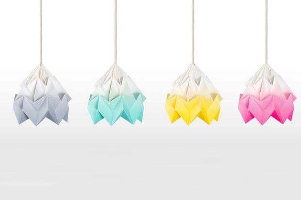 Lámparas de origami