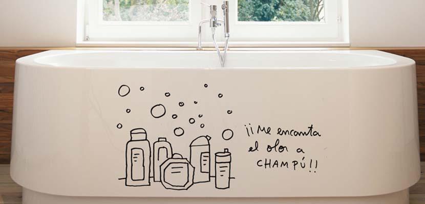vinilos divertidos para el baño
