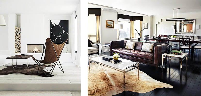 alfombras de piel saln - Alfombras Salon