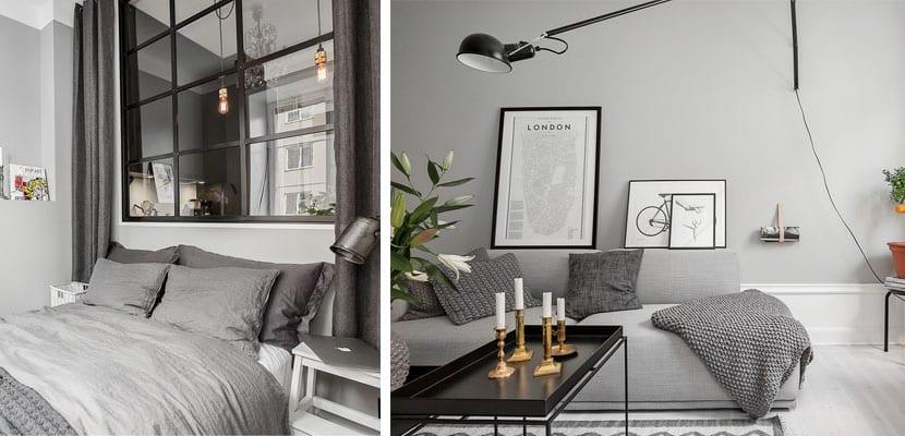 Casas decoradas en tonos grises