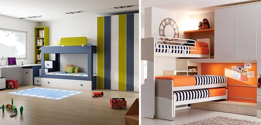 Dormitorios infantiles para tres