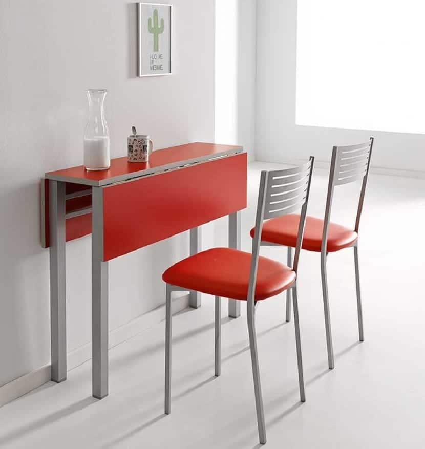 Mesa plegable para cocina fabulous el uso de las paredes para la instalacin de mobiliario - Mesa pared cocina ...