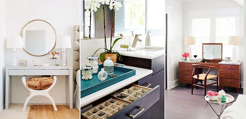 Tocadores con aires modernos, prácticos y decorativos