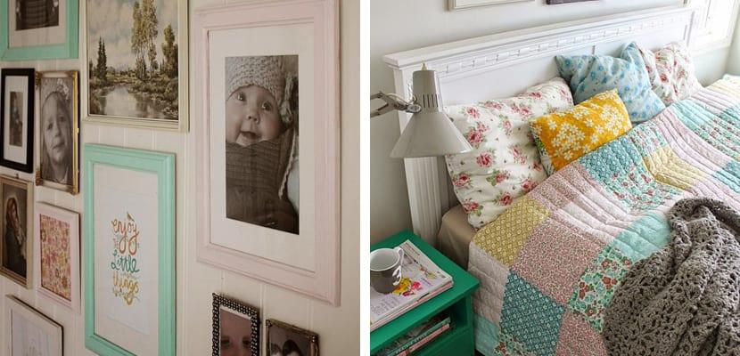 Dormitorio en casa colorida