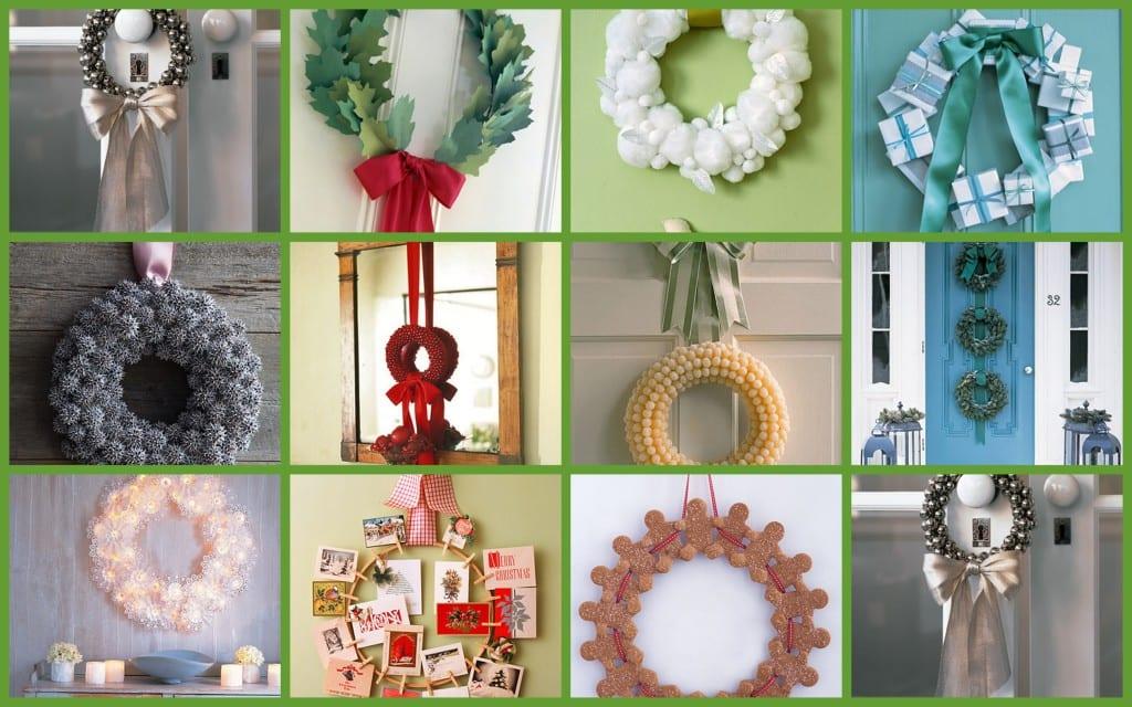 Ideas para decorar con una corona de navidad for Ideas para decorar la puerta en navidad