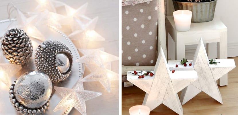 Decoración navideña con estrellas