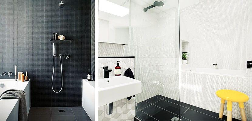 Cuartos de baño con bañera y ducha