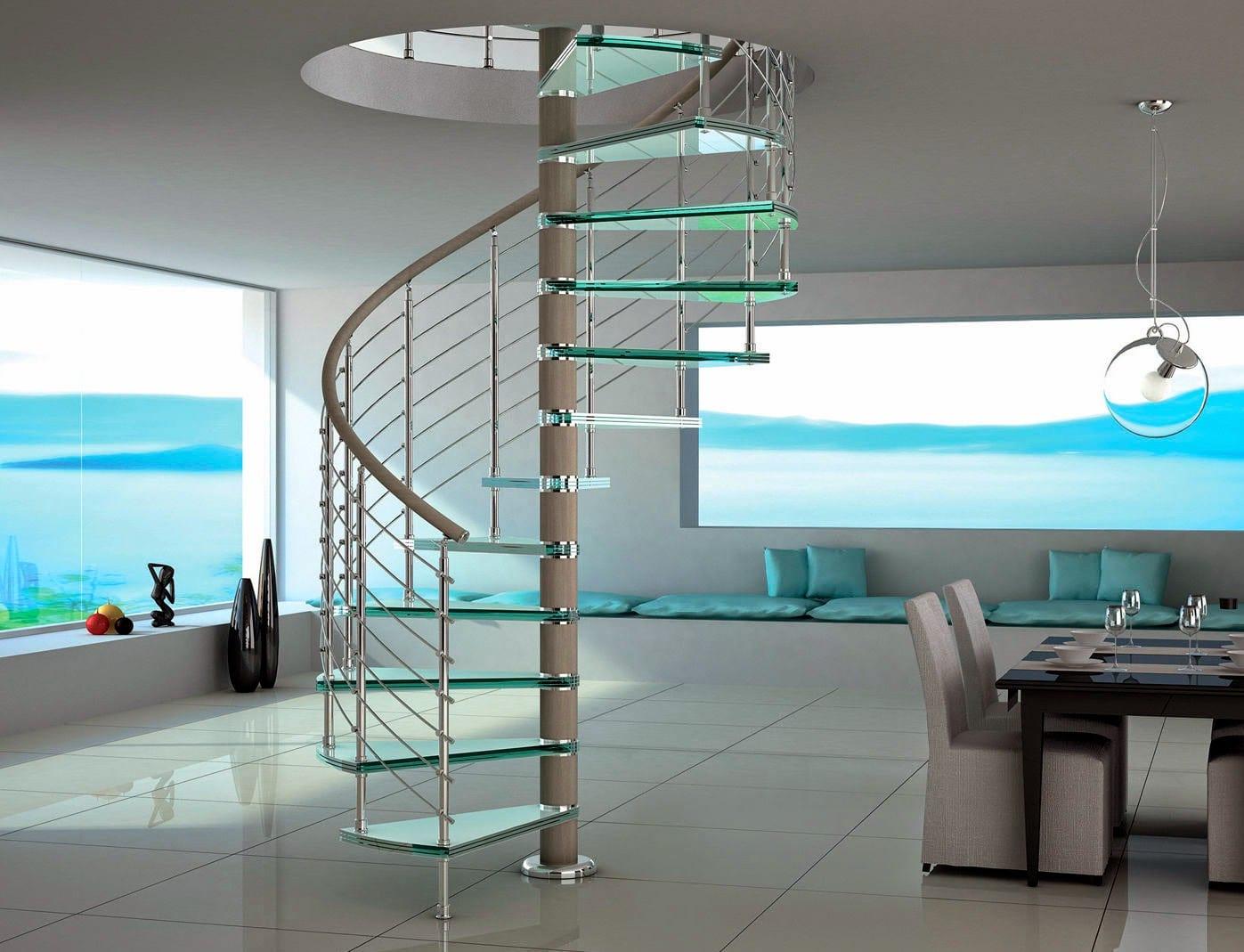 Las escaleras de caracol en el hogar