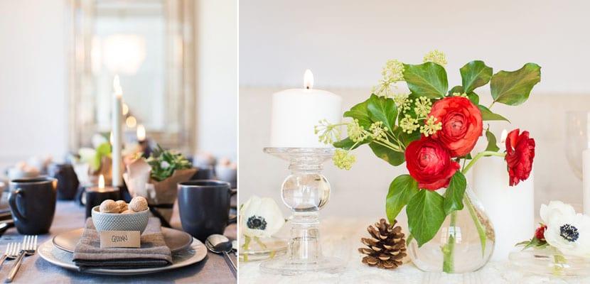 Mesas modernas Navidad