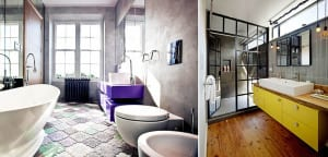 Muebles lavabo de color