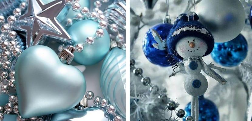 Navidades en color azul