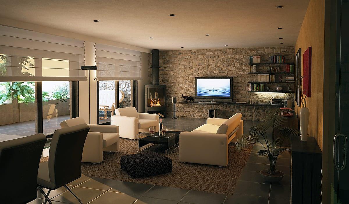 El estilo r stico en un piso urbano for Decoracion para casas pequenas estilo minimalista