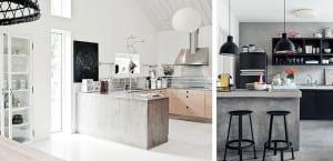 Cocinas con cemento pulido