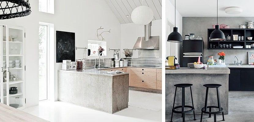 Cemento pulido en el dise o de la cocina Mejor material para encimeras de cocina