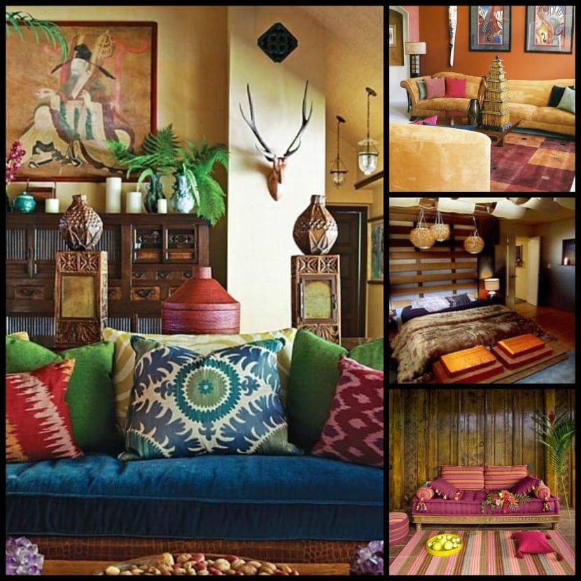 La decoraci n tnica en el hogar for Decoracion estilo hindu