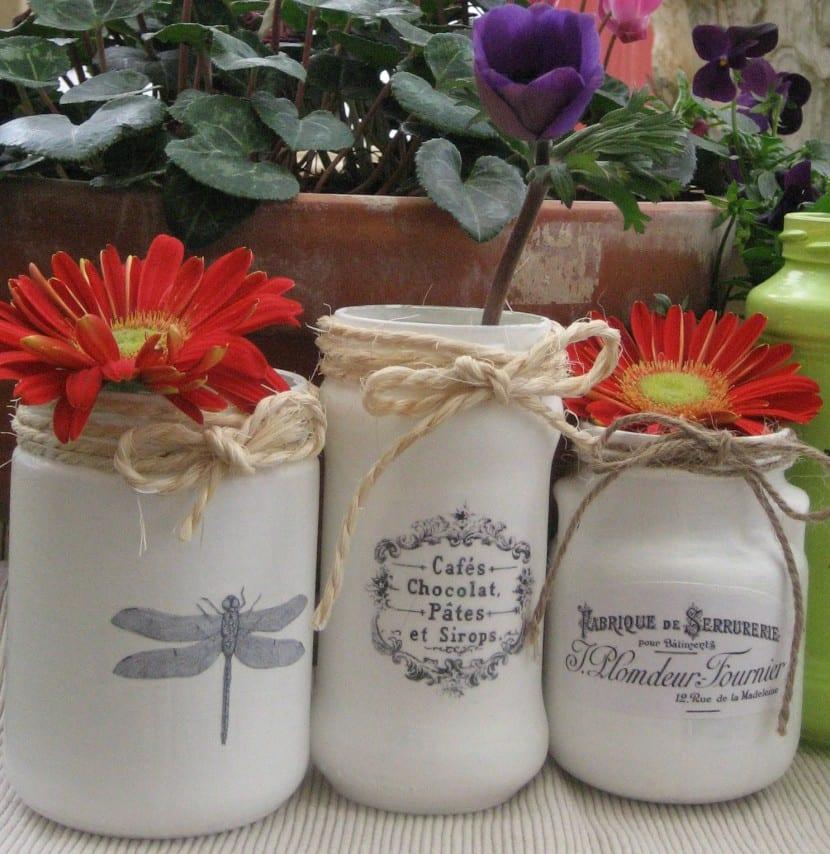 floreros reciclados