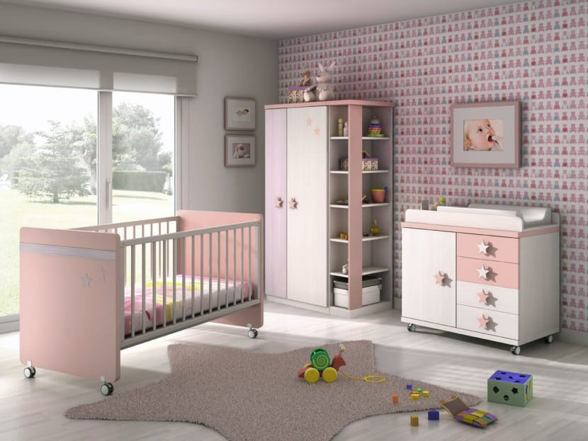 Fotograf as de habitaciones de beb bonitas - Habitacion rosa palo ...