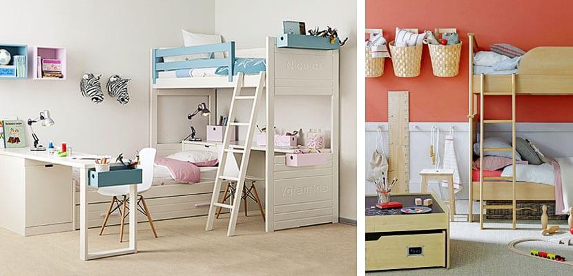 Dormitorios infantiles compartidos para ni o y ni a - Dormitorios infantiles para nino ...