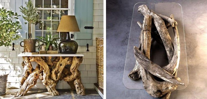 Muebles con ramas secas