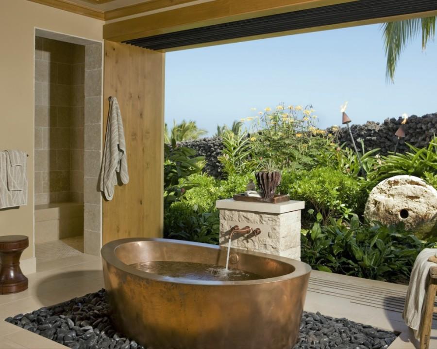 Cuartos de baño al aire libre   Decoora