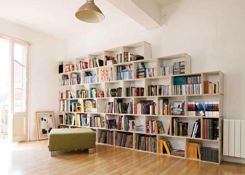 biblioteca en casa barata