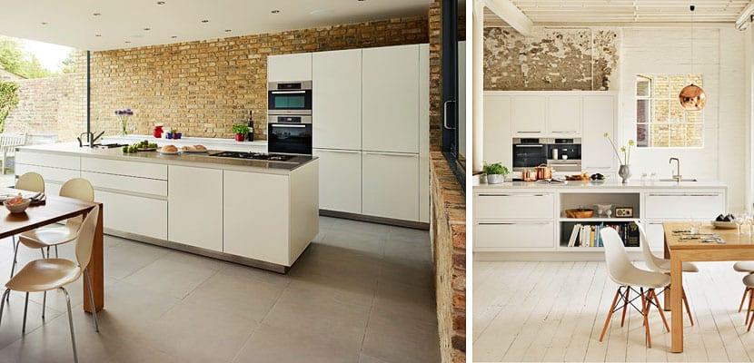 Paredes de ladrillo visto en la cocina for Cocinas de ladrillo