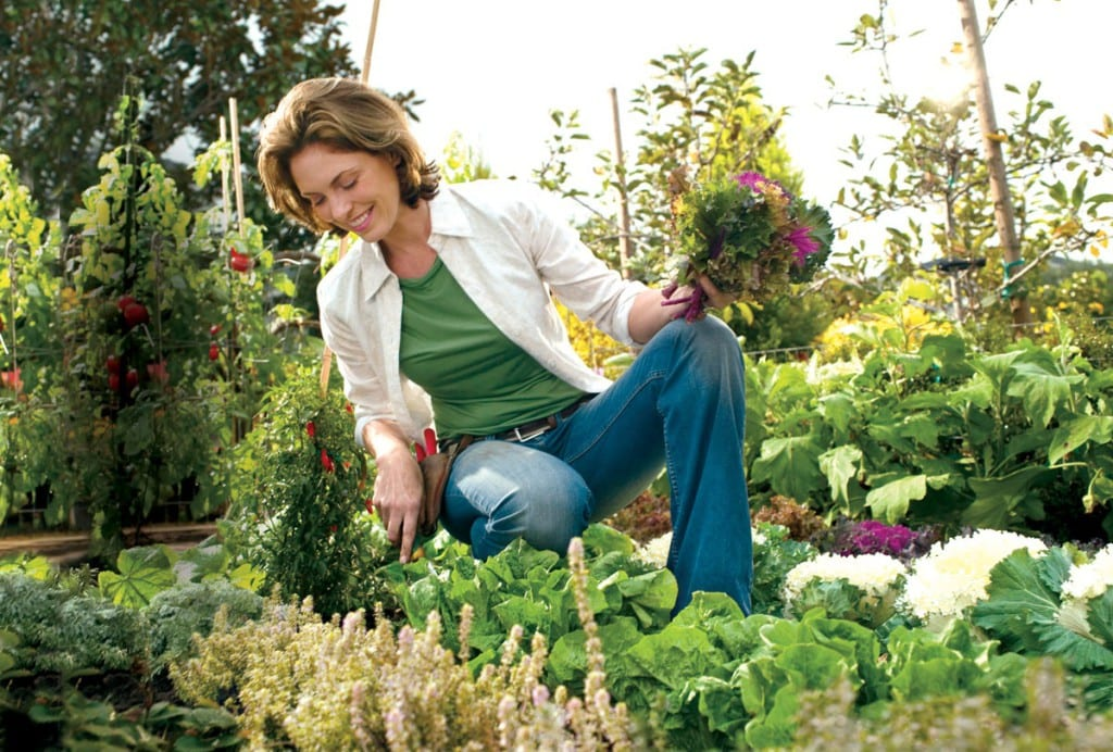 jardin mujer
