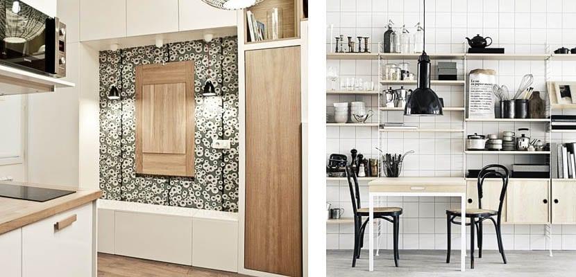 Mesas abatibles integradas cocina