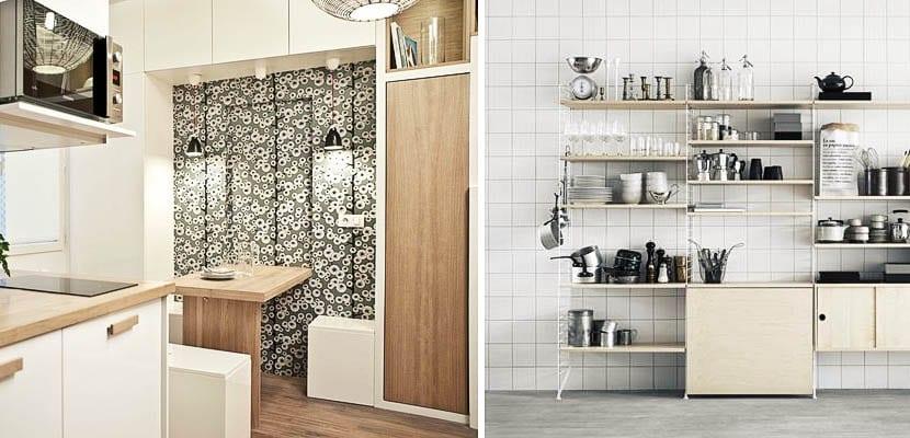 Una mesa abatible invisible en tu cocina - Mesa abatible cocina ...