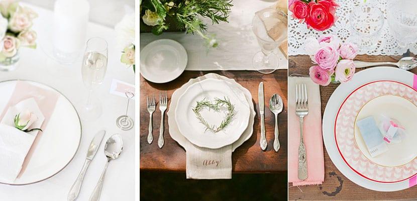 Mesas románticas San Valentín