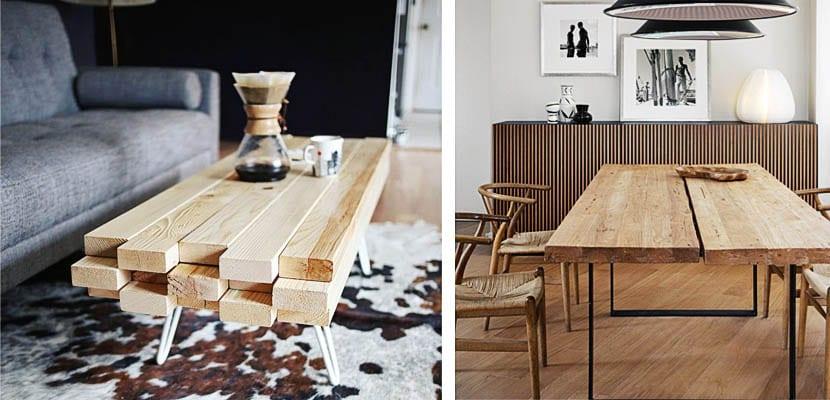 haz tu propia mesa con tablones de madera