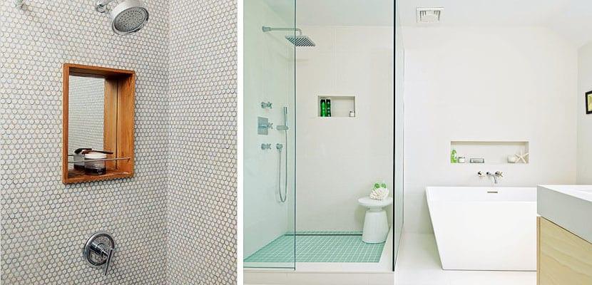Nichos de obra, muy prácticos en el cuarto de baño