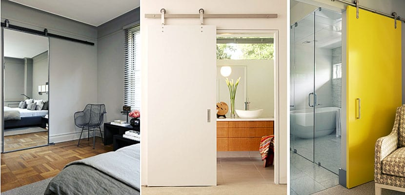 Puertas correderas entre el dormitorio y el ba o incorporado - Puerta corrediza para bano ...