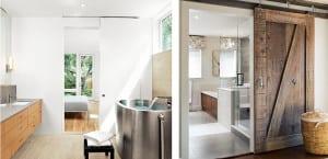 Puertas correderas para separar baño y dormitorio