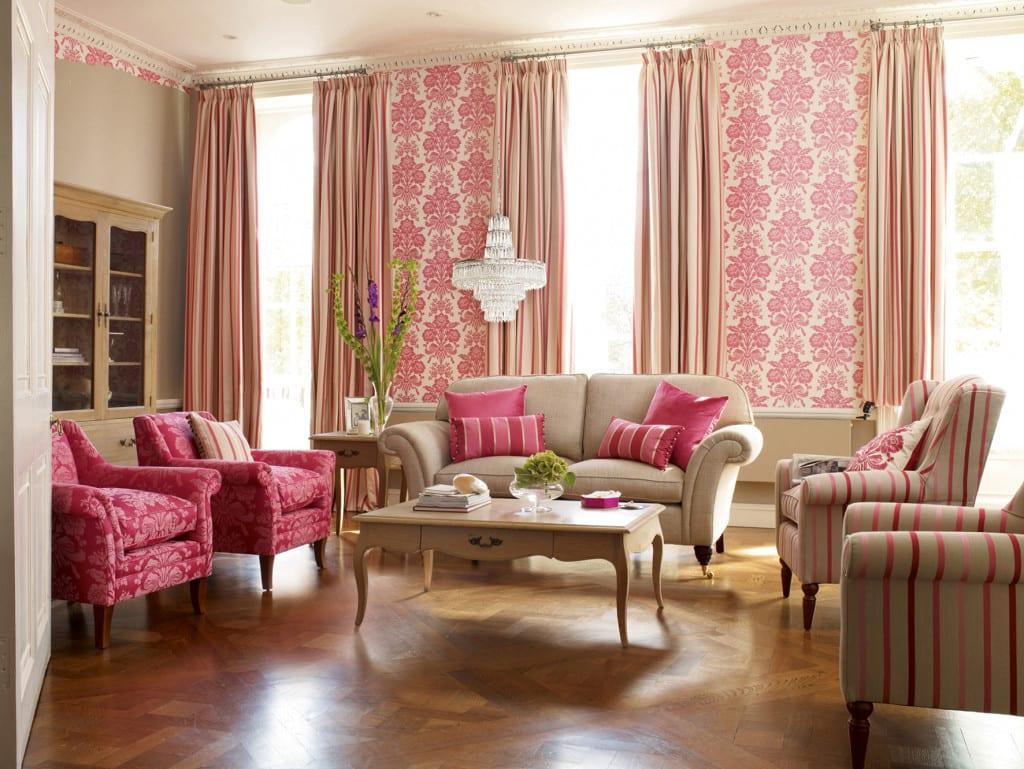 salon clasico rosa palo