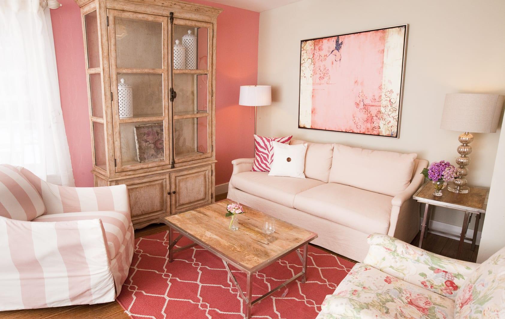 Ideas para decorar salones en color rosa