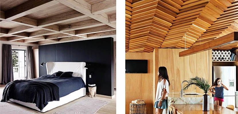 Techos de madera modernos y r sticos para tu hogar - Revestimiento de techos ...