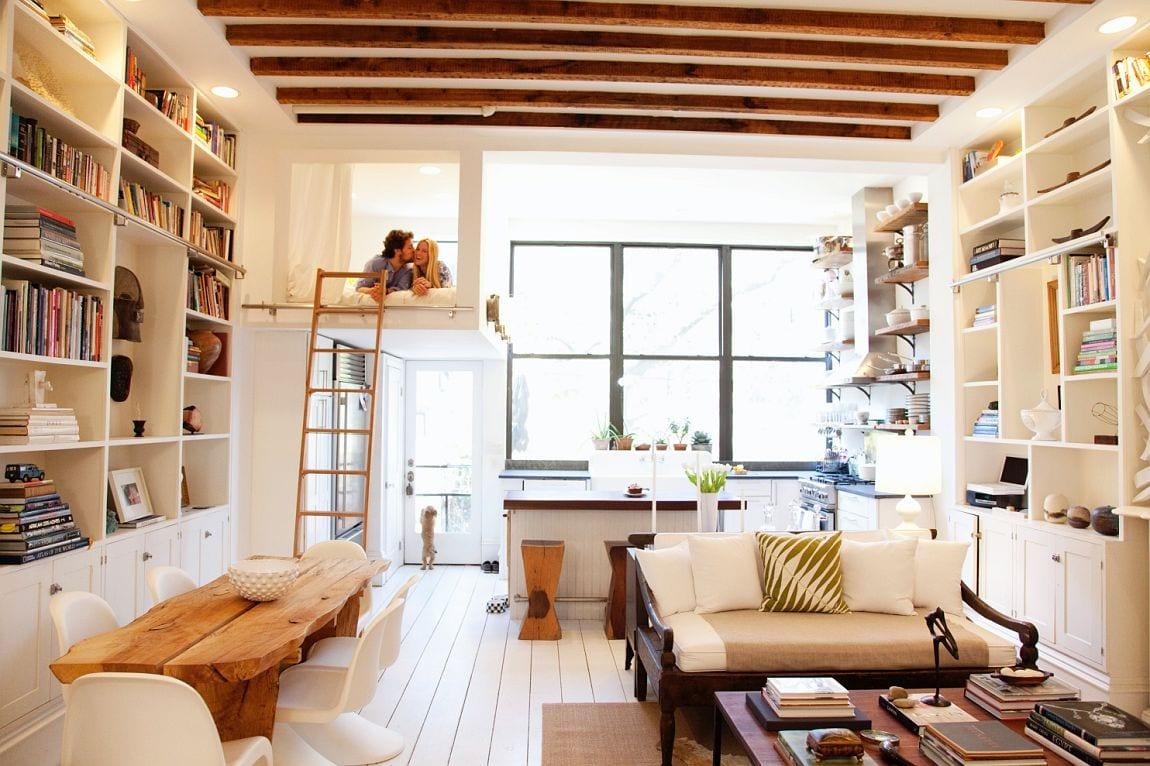 biblioteca en casa interioristas