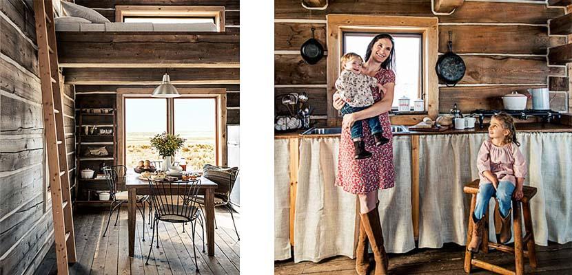 Cocinas rústicas en cabañas de montaña