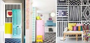 Mezcla de patrones en decoración