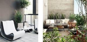 patios y terrazas de color gris