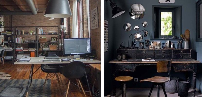 Oficina en estilo industrial