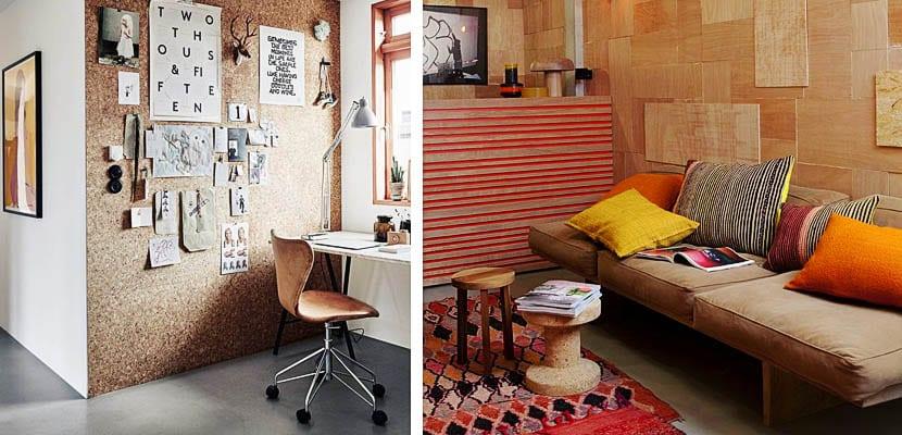 Revestimientos de corcho en las paredes - Corcho decorativo paredes ...