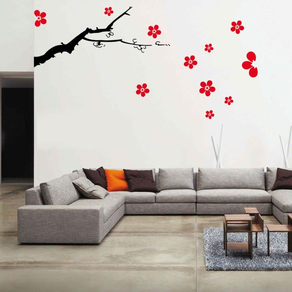 vinilo decorativo flores
