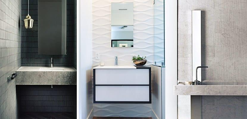 Azulejos con textura baño