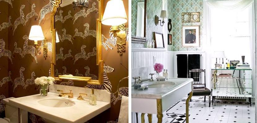 Muebles para un baño vintage