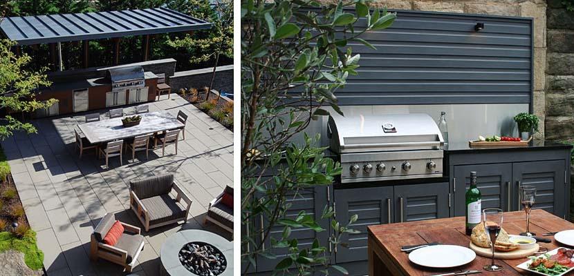 Cocina exterior terraza o jardín