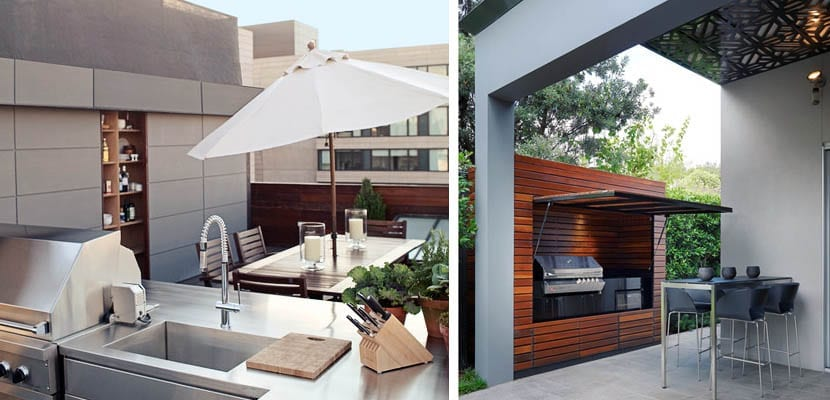 Cocinas exteriores para celebrar fiestas en el jard n for Cocinas en terrazas